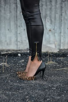 leather + cheetah