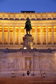 Vittorio Emanuele Memorial and tomb of the unknown soldier, Rome Lazio Italy. © Brian Jannsen Photography