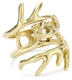 House of Harlow 1960 14k Gold-Plated Antler Wrap Ring