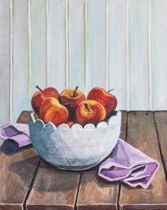 Apples | Acrylic on Canvas | Allyson Kramer, 2015 Buy Prints, Apples, Decorative Bowls, Canvas, Home Decor, Art, Tela, Art Background, Decoration Home