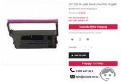 QuickPOS deals with CITIZEN IR-31BR Black/Red Rib. IR31BR at LOW rates at $12.11. Call us to 1300887672 for any queries & place Order NOW..!  http://www.quickpos.com.au/consumables-ink-ir31br