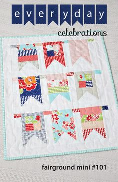 Fairground Mini Quilt PDF Pattern by EverydayCelebrations on Etsy https://www.etsy.com/listing/203688945/fairground-mini-quilt-pdf-pattern