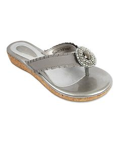 Another great find on #zulily! Silver Libby Sandal & Strap Set #zulilyfinds