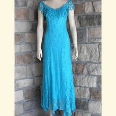 Turquoise version of wedding dress