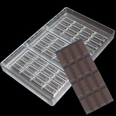 1 Piece Diy Polycarbonate Chocolate Mould Jelly Cake Decoration Pastry Baking Dish Hard Pc Sweet Candies Chocolate Bar Molds To Ensure Smooth Transmission Bakeware