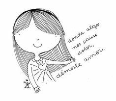 Flor de Jopo Doodle Sketch, Doodle Drawings, Drawing Sketches, Kawaii Doodles, Cute Doodles, Stick Family, Love S, Line Art, Cute Girls