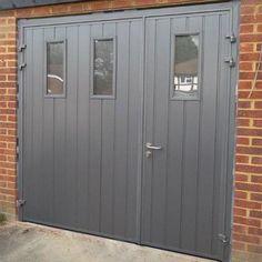Side Hinged Garage Doors, Garage Door Hinges, Garage Door Insulation, Garage Door Design, Garage Door Makeover, Garage Gym, Garage Office, Garage Extension, House Extension Design