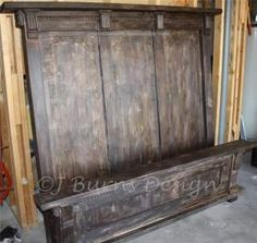 My headboard inspired by RH bed. This vintage looking headboard is made from all NEW materials. You can make one too!