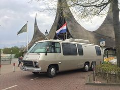 RV GMC motorhome - Efteling The Netherlands - RV day parking front row 10€. Great day.