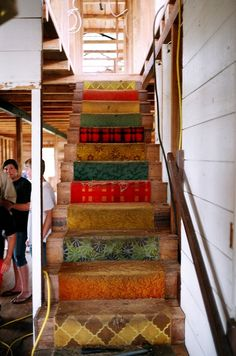 Colourful Stairs at Nate Saint House by Leanne Hooper, via Flickr
