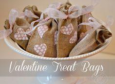 Valentine Burlap Treat bag by Create & Babble #PickYourPlum #burlapbags