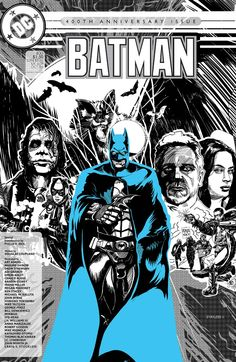 Re-illustrated Batman, Issue 400, 1986. Characters in C. Nolan film costumes.