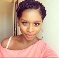 Easy & Elegant Twisted Updo is the perfect style for summer or a winter protective style!