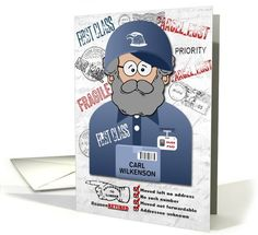Mail Carrier or Postal Worker Retirement Customized card