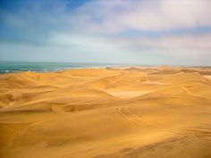 #NamibDesert near #Swakopmund, #Namibia Namib Desert, Namibia, Africa, Beach, Water, Outdoor, Travel Destinations, Viajes, Gripe Water