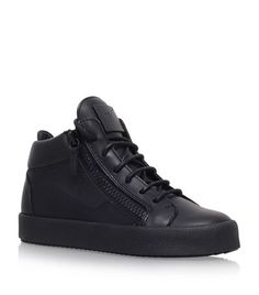 Giuseppe Zanotti Leather Mid-Top Sneakers available to buy at Harrods. Shop women's shoes online and earn Rewards points.