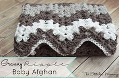Granny Ripple Blanket - The Stitchin Mommy