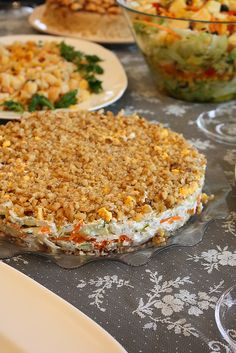 Mimoza salatası Turkish Salad, Salmon Burgers, Fried Rice, Salad Recipes, Cake Recipes, Turkish Kitchen, Turkish Cuisine, Appetizer Salads, Appetizers