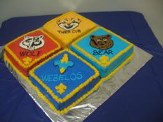 Cub Scout Blue and Gold Banquet Cake