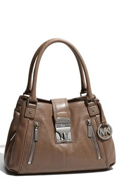 MICHAEL Michael Kors 'Jenna - Medium' Leather Tote - love this color!
