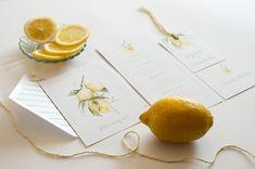 miodunka, lemon, wedding invitation, zaproszenia ślubne, papeteria ślubna, akwarelowe wzory, ręcznie malowane zaproszenia, wedding