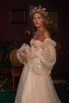 Bespoke and made-to-order bridal and evening wear. Vintage inspired couture wedding dresses and red carpet gowns handmade in Brighton England. Dream Wedding Dresses, Wedding Gowns, Prom Dresses, Formal Dresses, Fairy Wedding Dress, Wedding Lace, Mermaid Wedding, Ethereal Wedding Dress, Fairy Dress