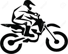 Image result for dirt bike silhouette vector