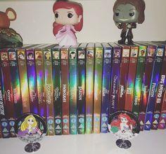 Disney Dvd, Disney Pixar, Disney Collection, Ouat, Once Upon A Time, Tangled, Ariel, Broadway, Shelf
