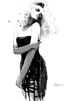 Fashion drawing!!! ABSOLUTELY A-mazing!! Please follow Me!! :)