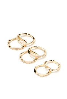 Pentagonal Midi Ring Set   Forever 21 - 1000163445