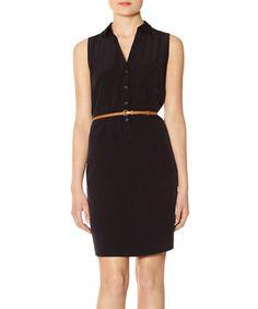 Look what I found on #zulily! Black Ashton Shirt Dress #zulilyfinds