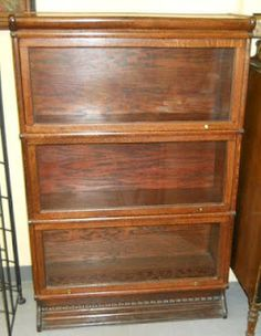 Barrister's cabinet/bookshelf for displaying an awesome collection of antique containers