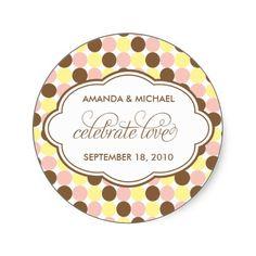Celebrate Love - Sweet Spots Sticker, www.zazzle.com
