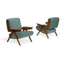 Gianfranco Frattini for Cassinalounge chairs, pair, circa plywood, walnut veneer, bra. Oak Park, Walnut Veneer, Auction Items, Unique Furniture, Art Decor, Home Decor, Plywood, Modern Design, Accent Chairs