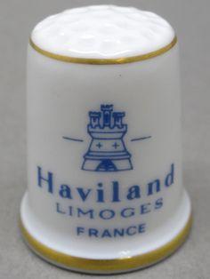 Haviland Limoges-France. Edicion UK y USA. TCC. Thimble-Dedal-Fingerhut.