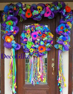 Deco Mesh FIESTA GARLAND by decoglitz on Etsy