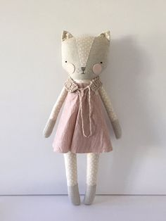 luckyjuju kitty girl cat lovie doll от luckyjuju на Etsy