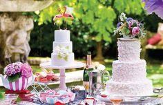 Flamingos cake topper!     LAST PAIR Pink Flamingo Wedding Cake Topper Unique by beckykazana, $35.00