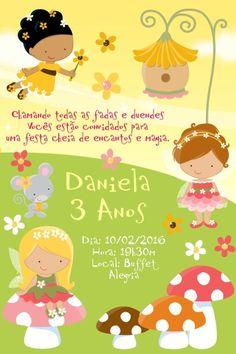 Convite digital personalizado Fadas 006