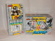 "Mighty Morphin Power Ranger 10"" Dairanger Kiba White & Tigerzord Figure SET 1993 #Bandai"