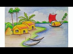 i am aparna s i love drawing when i saw d topic nature only