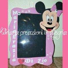 Portafoto minnie mouse in gomma crepla