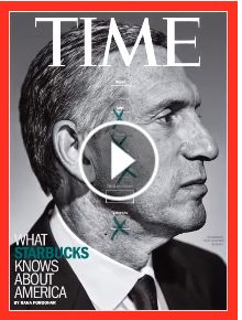 TIME's new cover: What Starbucks Knows About America. Howard Schultz is transforming his company. He might change the country too Howard Schultz, Now Magazine, Magazine Covers, Magazine Design, Magazine Rack, Cd R, Time Inc, Gym Classes, Journals