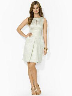 Sleeveless Oval-Print Dress - Lauren Short Dresses - RalphLauren.com