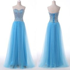 Bg173 Sweetheart Neck Prom Dress,Backless Prom Dress,Blue Prom Dress,Organza Prom Dress,Formal Evening Dress,Elegant Prom Gown