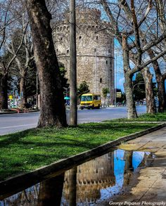 Λευκός Πύργος...Διπλός... Θεσσαλονίκη, Thessaloniki... Thessaloniki, Macedonia, Greece Travel, Byzantine, Daydream, Tourism, Places To Visit, Greek, Sidewalk