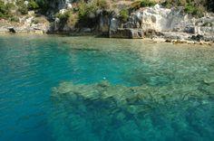 rovine storiche sommerse a Kekova