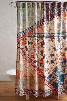 Risa Shower Curtain - LOVE this shower Britain's boho vibe