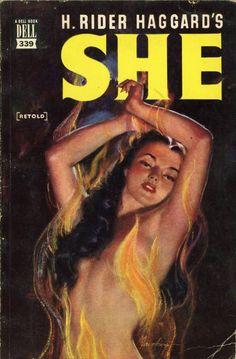 Dell Books 339 - H. Rider Haggard - She  H. Rider Haggard - She Dell Books 339 Published 1949 Cover Artist: Lou Marchetti