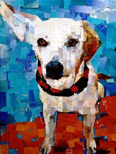 """#hound #mix Collage on Canvas 18 x 24"""" 2014 mydogcollage.com"""